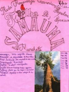 Capa do jornal Folha de Samaúma